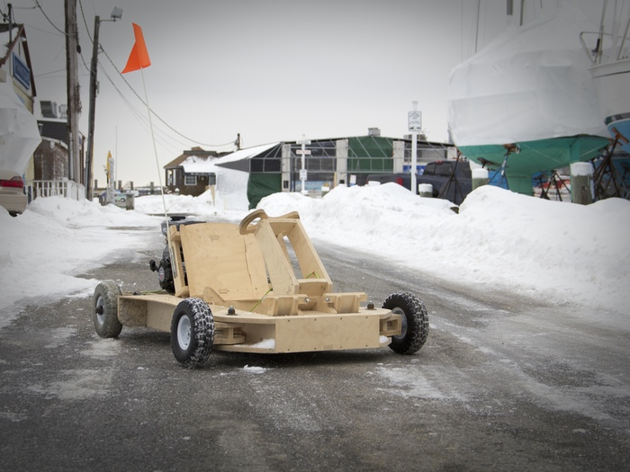 The Gas-Powered PlyFly Go-Kart Assembles Like Ikea Furniture